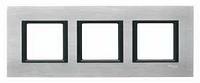 Рамка трехместная Шнайдер уника класс(Schneider Unica Class) серебристый алюминий