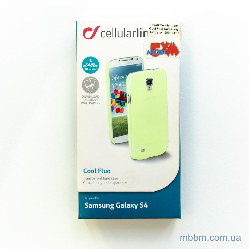 Чехлы для Galaxy S Series (остальные модели) Cellular Line Cool Fluo Samsung s4 i9500 Lime S4 Для телефона