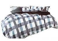 Комплект постельного белья Хлопковый Сатин Двухсторонний NR C1212 Oulaiya 9128 Белый, Серый