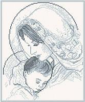 АМП-003. Набір алмазної мозаїки Мадонна і дитя (срібло).
