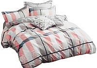 Комплект постельного белья Хлопковый Сатин Двухсторонний NR C1304 Oulaiya 7894 Оранжевый