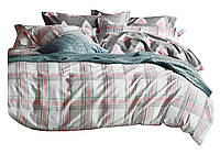 Комплект постельного белья Хлопковый Сатин Двухсторонний NR C1330 Oulaiya 2591 Белый, Розовый