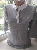 Нежный хлопковый женский Блуза-реглан Esmara  серый,пудра 42-48, фото 1