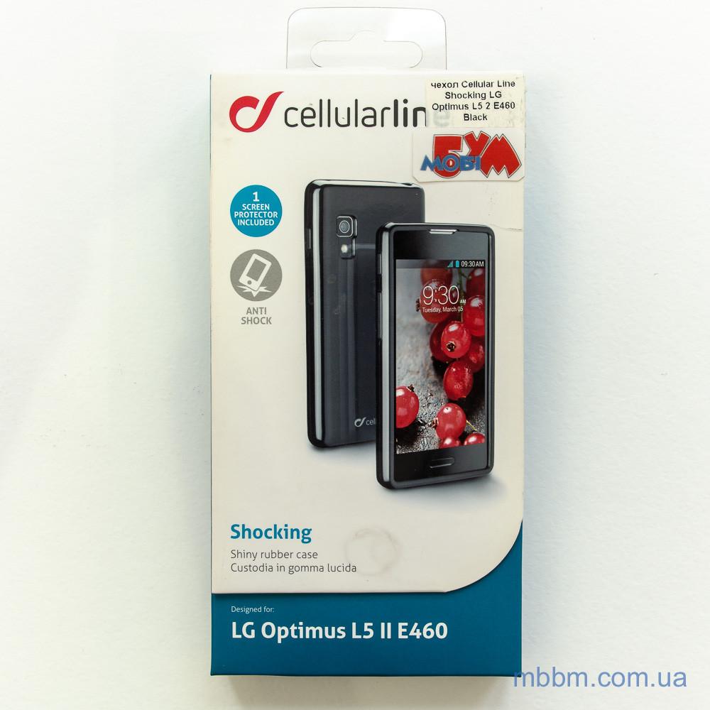 Чехлы для LG Cellular Line Shocking Optimus L5 2 E460 black Для телефона