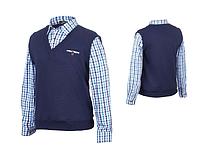 Рубашка обманка школьная для мальчика, 122
