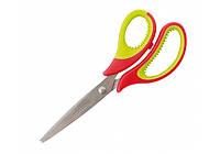 Ножницы офисные Optima пластиковые ручки с резиновыми вставками 15 см O44418