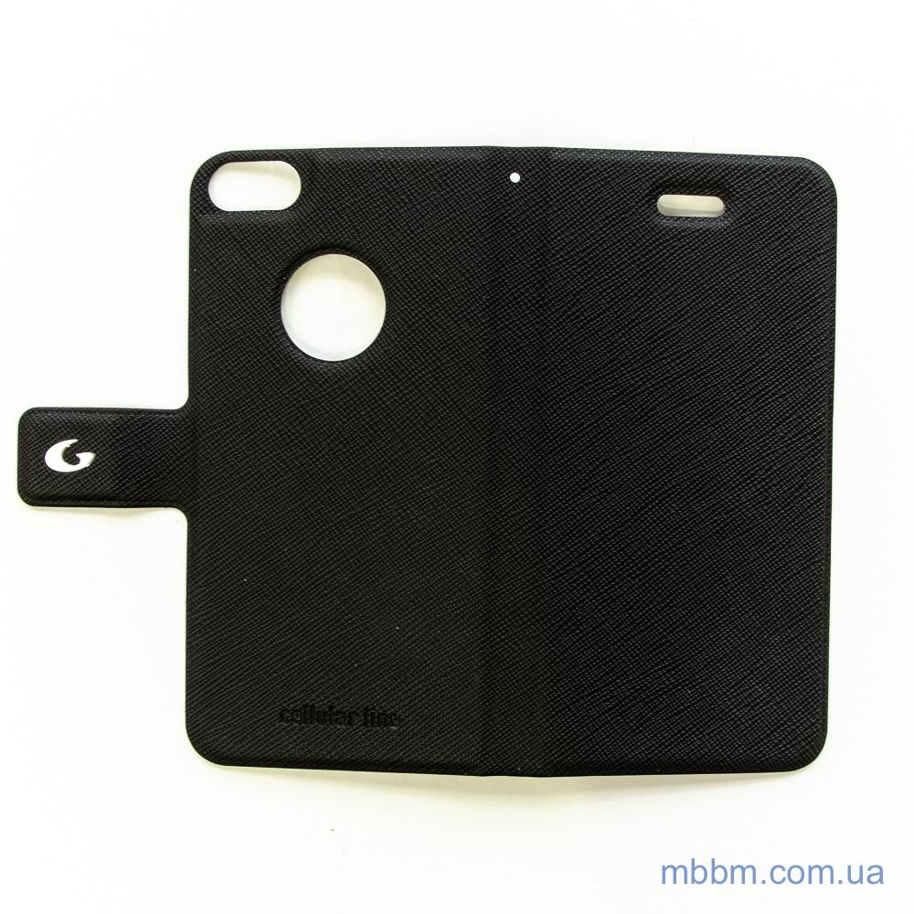 Чехол Cellular Line Book Slim iPhone 5s SE black