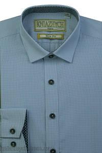 """Рубашка для мальчика """"Княжичи"""" Украина голубой-серый Kassel 6 slim"""