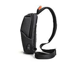 Крутой однолямочный рюкзак через плечо Tangcool TC905, влагозащищённый, 3л, фото 2