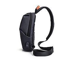 Крутой однолямочный рюкзак через плечо Tangcool TC905, влагозащищённый, 3л, фото 3