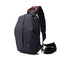 Крутой однолямочный рюкзак через плечо Tangcool TC905, влагозащищённый, 3л, фото 6