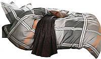 Комплект постельного белья Хлопковый Сатин NR C1287 Oulaiya 7771 Серый