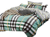 Комплект постельного белья Хлопковый Сатин NR C1280 Oulaiya 8562 Зеленый