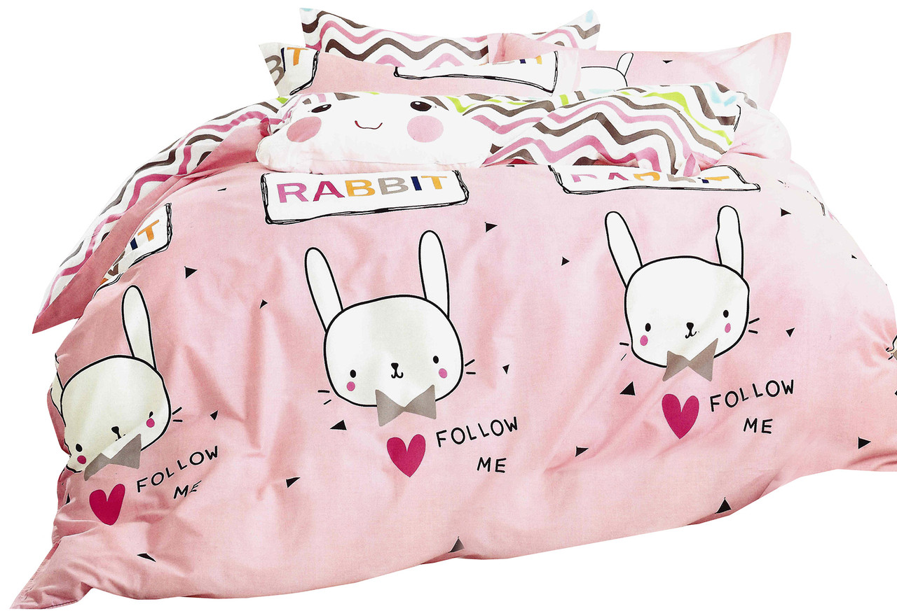 Комплект постельного белья Хлопковый Сатин NR A1135 Collection World 0524 Розовый