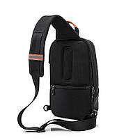 """Рюкзак однолямочный TANGCOOL TC907, черный, для ноутбуков/планшетов до 10"""", фото 2"""