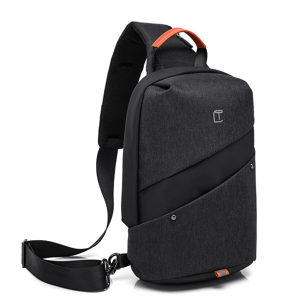 """Рюкзак однолямочный TANGCOOL TC907, черный, для ноутбуков/планшетов до 10"""""""