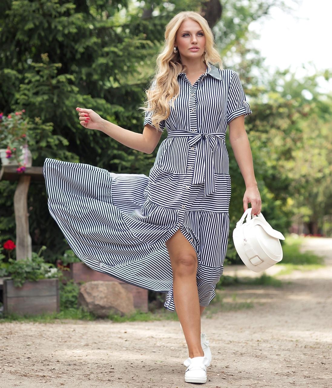 Платье Молли 48-56 синий