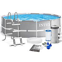 Бассейн Intex26716  каркасный Ø366 х 100см,фильтр насос 2 006 л/ч, лестница