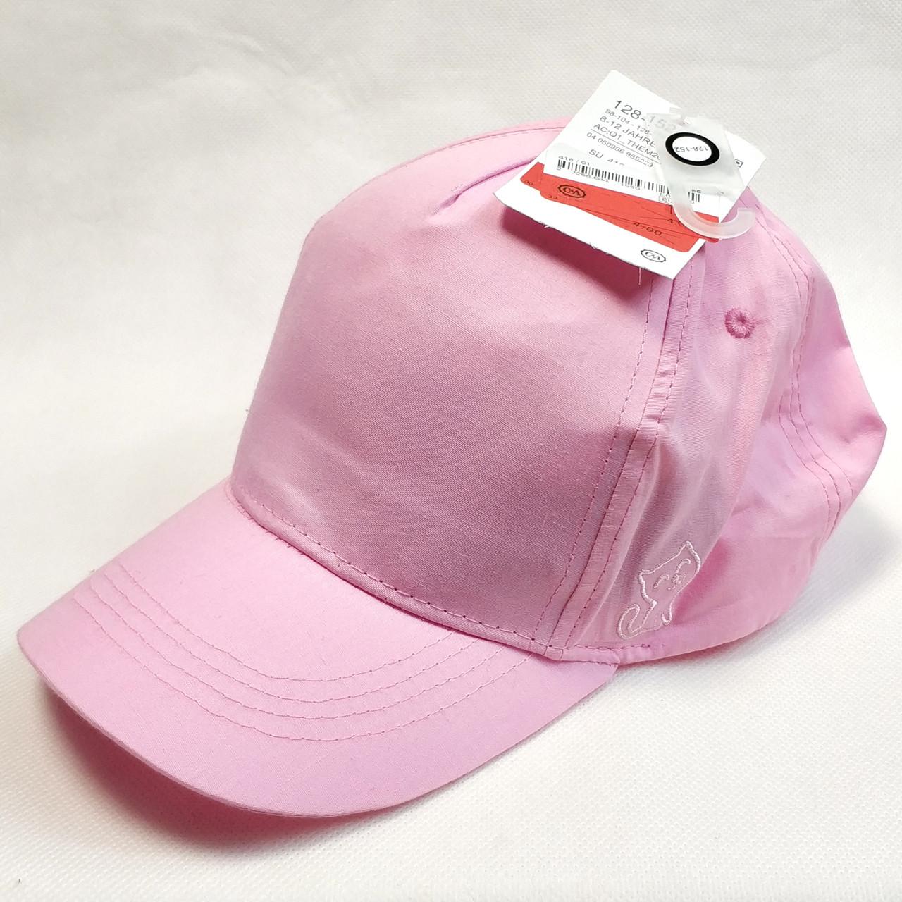 Детская летняя кепка бейсболка для девочки розовая бренд c&a 8-12 лет