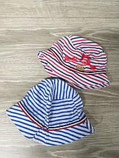 Детская панама в полоску с декоративными бантами, шляпка для девочек, 100% хлопок, размер 48-50, фото 3