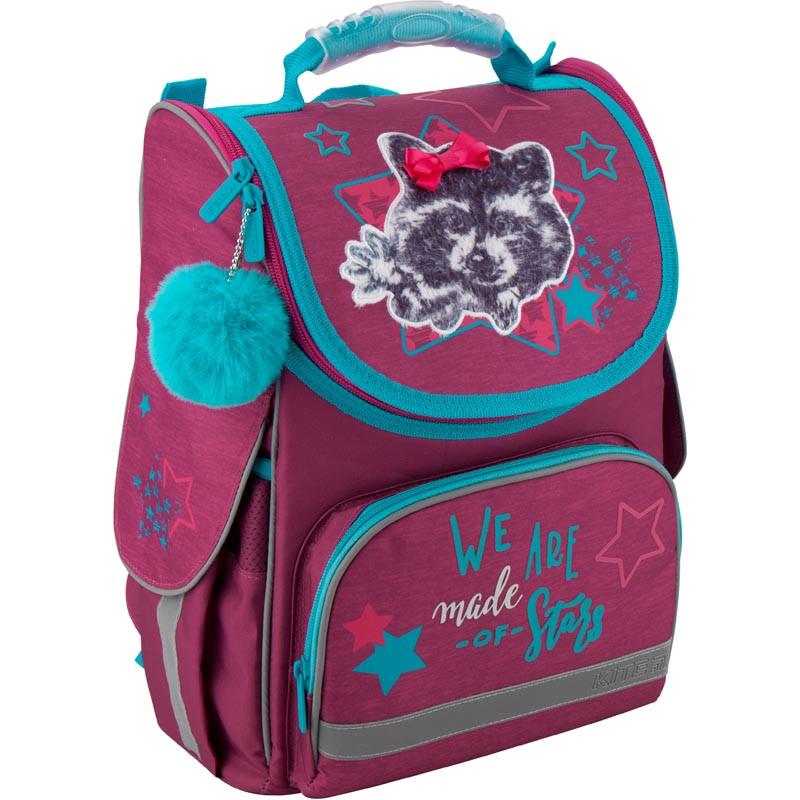 Рюкзак школьный каркасный Kite 501 Fluffy racoon K19-501S-3