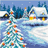 АМК-109. Набір алмазної мозаїки Різдвяний вечір.