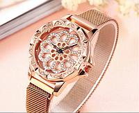 Наручные женские часы с вращающимся циферблатом (выбор цвета)