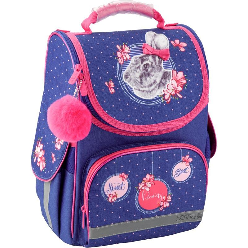 Рюкзак школьный каркасный Kite 501 Fluffy bunny K19-501S-4