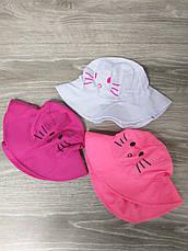 """Детская панама с накатом """"Котик"""", шляпка для девочек, 100% хлопок, размер 50-52, фото 2"""