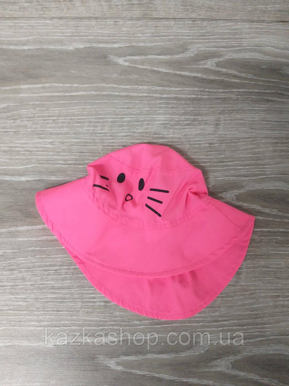 """Детская панама с накатом """"Котик"""", шляпка для девочек, 100% хлопок, размер 50-52"""