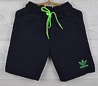 """Шорты детские трикотажные """"Adidas реплика"""". Размеры 26-28-30-32-34 (3-7 лет). Темно-синий. Оптом."""
