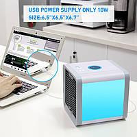 Мини кондиционер вентилятор, охладитель Arctic. Кондиционер увлажнитель. Работает От USB.