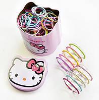 Набор Блестящих резинок для волос Детские резинки 100 штук Комплект резинок Подарочный наборПрекрасный подарок