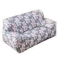 Чехол на диван натяжной 2х 3х местный Stenson R26304 145-185 см White Grey (008823)