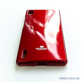 Чехол Goosprey Jelly Mercury Huawei Ascend P7 red
