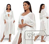 Женский шифоновый пляжный халат в больших размерах 1ba1875