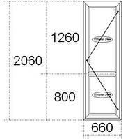 Металлопластиковые межкомнатные двери, сантех замок, 660х2060, Николаев