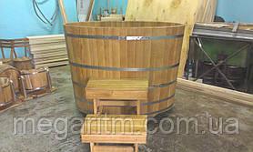 Купель круглая 1400 литров дуб, термоясень, ель европейская, термососна Украина, фото 2