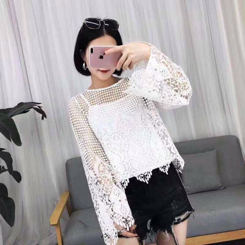 Летняя кружевная блуза 44-46 (в расцветках)
