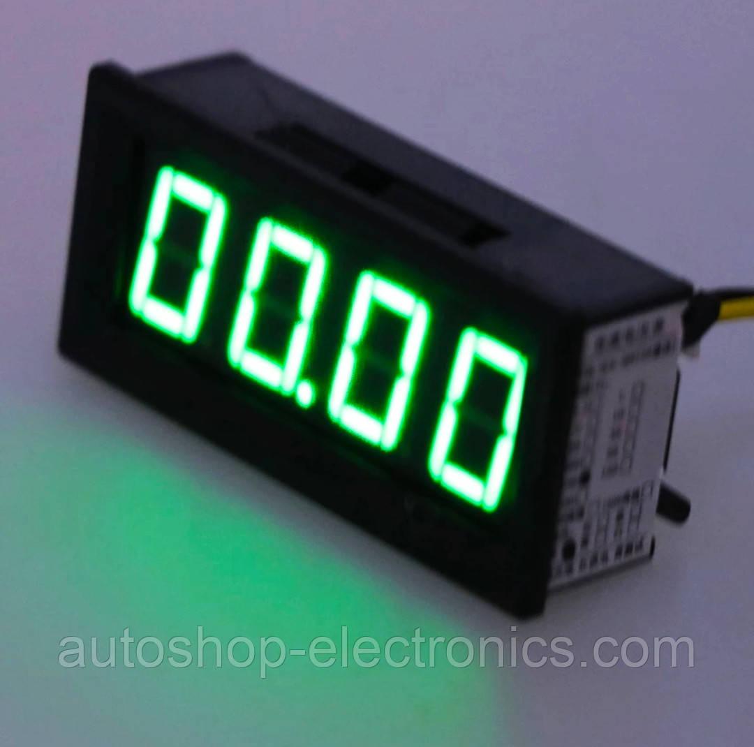 Высокоточный цифровой автомобильный ВОЛЬТМЕТР 12 В - 24 В (4-х разрядный, до 100 В, 60 x 29 мм)