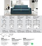 Італійський диван розкладний JACK матрац 160 см фабрика Felis, фото 7