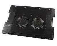"""Подставка для ноутбука до 17"""" Zero ZR650, Black, 2 вентилятора, USB хаб на 2 порта"""