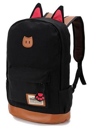 Женский рюкзак BR-S с кошачьими ушками черный (977456482), фото 2