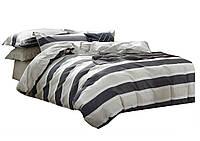 Комплект постельного белья Хлопковый Сатин Двухсторонний NR C1223 Oulaiya 8105 Серый