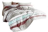 Комплект постельного белья Хлопковый Сатин Двухсторонний NR C1261 Oulaiya 1693 Кремовый, Серый