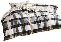 Комплект постельного белья Хлопковый Сатин Двухсторонний NR C1278 Oulaiya 1413 Белый, Серый
