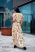 Длинное летнее платье со спадающим плечом 55plt2926
