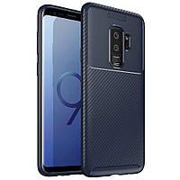 Чехол Carbon Case Samsung G965 Galaxy S9 Plus Синий