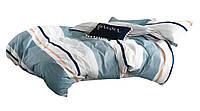 Комплект постельного белья Хлопковый Сатин Двухсторонний NR C1332 Oulaiya 2928 Синий, Белый