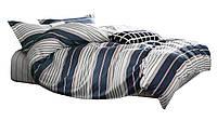 Комплект постельного белья Хлопковый Сатин Двухсторонний NR C1360 Oulaiya 3062 Бежевый, Синий, Белый